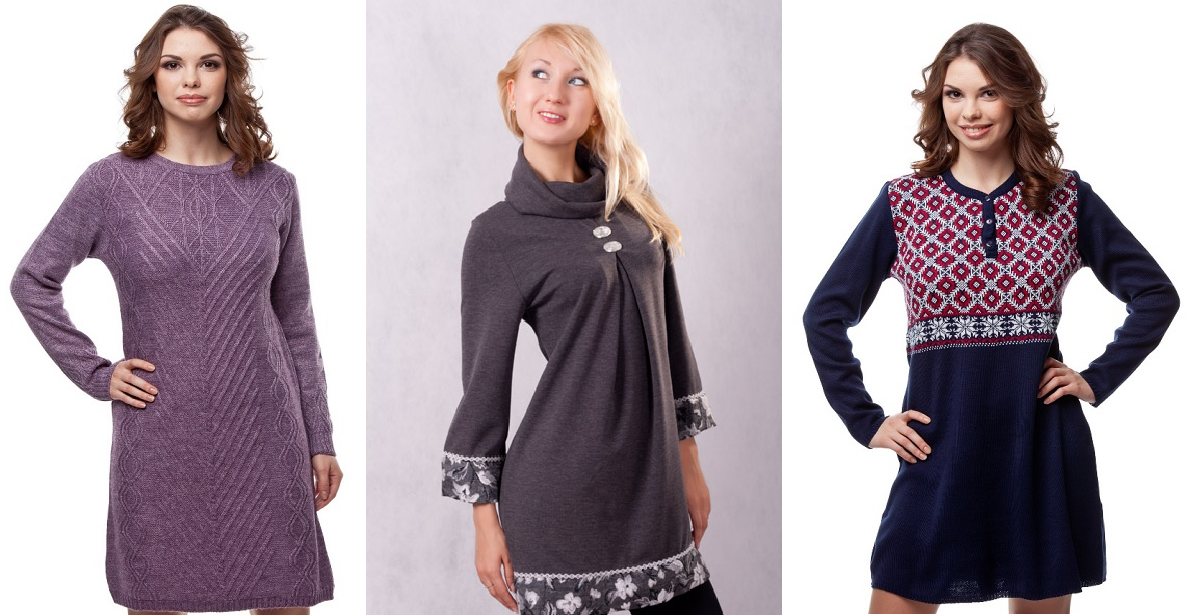 Трикотажные платья туники